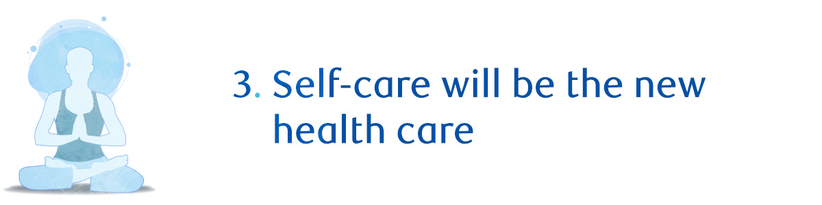 3. Self-care will be the new health care